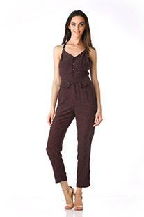 Stanzino Women's Hearts Printed Jumpsuit with Adjustable
