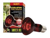 Exo Terra Heat-Glo Infrared Spot Lamp, 75-Watt/120-Volt