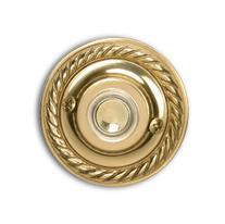Heath Zenith 871PB-B Wired Push Button, Polished Brass