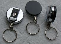 Heavy Duty  Retractable Reel Key-ID-Badge-Belt Clip & Chain