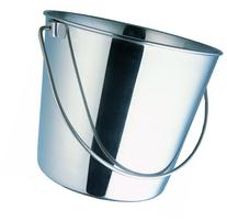 Indipets Heavy Duty Stainless Steel Pail, 6-Quart