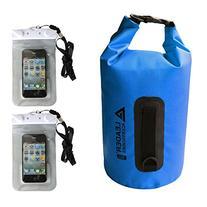 Heavy Duty Vinyl Waterproof Dry Bag with 2 Waterproof Phone