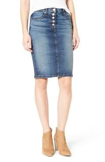 Women's Hudson Jeans Helena Denim Skirt, Size 24 - Blue