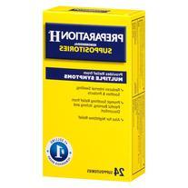 Preparation H Hemorrhoidal Suppositories - 24 ea