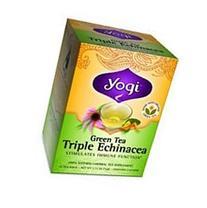 Yogi Herbal Green Tea Triple Echinacea -- 16 Tea Bags