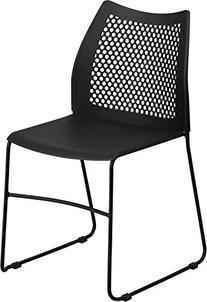 HERCULES Series 661 lb. Capacity Black Sled Base Stack Chair