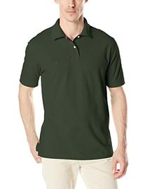 IZOD Men's Heritage Solid Pique Polo, Forest Pigment, Small