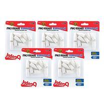 Pentel Hi-Polymer White Eraser Caps, 5 Packs of 10