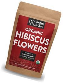 Organic Hibiscus Flowers - Loose Tea  - Cut & Sifted - 8oz