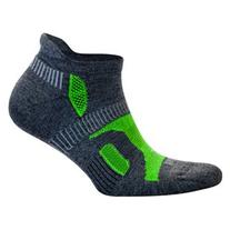 Balega Hidden Contour Socks, Charcoal/Neon Green, Large