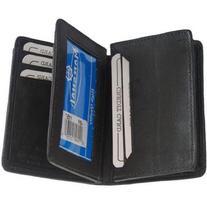 New Hideaway Zippered Men's Leather Wallet black #1157bk