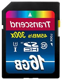 Transcend 16GB SDHC Class 10 UHS-1 Flash Memory Card Up to