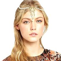 Sannysis HMetal Chain Jewelry Headband Head Hair Band