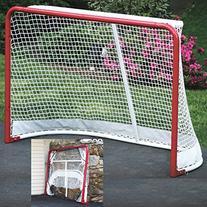 EZGoal Hockey Folding Pro Goal, 2-Inch, Red/White – (