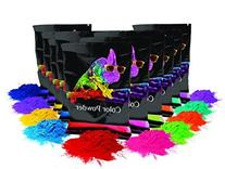 Holi Color Powder 10pk 70g Each Red, Yellow, Navy Blue,