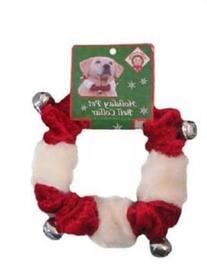 Kyjen Holiday Bell Collar Red/White Medium