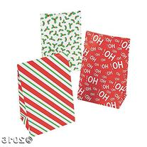 Holiday Mini Treat Bags with Tape Pack of 12