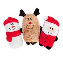 ZippyPaws Holiday 3-Pack Squeakie Buddies - Squeaky No