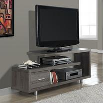 Monarch Hollow-core TV Console in Dark Taupe