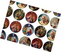 The Holy Family Assorted Nativity Scenes Stickers, 1 1/2