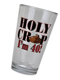 BigMouth Inc Holy Crap I'm 40 Pint Glass