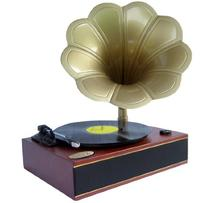 Pyle Home PNGTT1R Classic Horn Phonograph/Turntable with USB