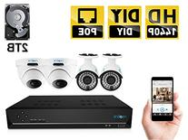 Home Security Camera System , Reolink 8CH 4 Megapixel 1440P