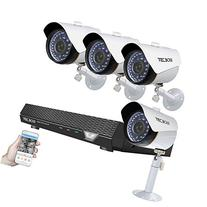 TECBOX Home Security Camera System 4 Channel 720P AHD DVR