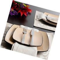 Gibson Home Soho Lounge Square 16-Piece Dinnerware Set