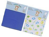 Honey Baby Blue Elephant Toddler Bed or Crib Sheets 2-Pack