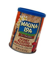 Mauna Loa Honey Roasted Macadamia Nuts Can, 4.5 Ounce