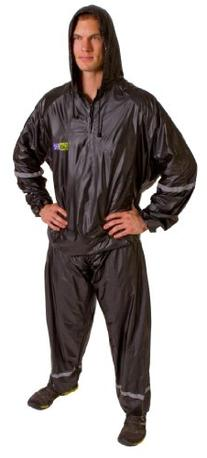 GoFit Hooded Thermal 2-Piece Training Suit, Black, Large/X-