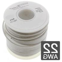 Hook Up Wire 600 Volts Irradiated 25' Stranded 22AWG - White