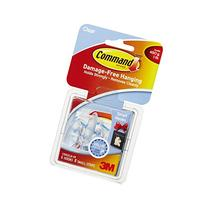 Command Small Hooks, Clear, 6-Hooks, 8 Strips
