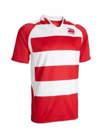 Canterbury Hooped Challenge Jersey, Flag Red/White, XX-Large