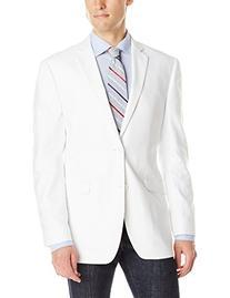 U.S. Polo Assn. Men's Hopsack Two Button Blazer, White, 44