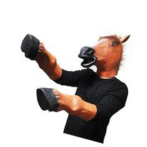 SHEENROAD Horse head latex Mask with 1 Pair Horse Hooves