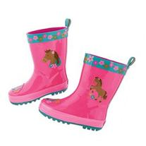 Stephen Joseph Children's Horse Rain Boots - Child Size 9 9