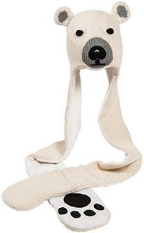 Nirvanna Designs HSPOLAR Polar Bear Hat Scarf, White, 11
