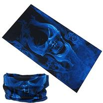 HT-022 Fire Skull up in Blue Flames Design Protective Multi-