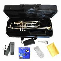 Hallelu HTP-200 Bb Trumpet W/pro Case 1 Year Warranty