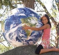 """Huge Inflatable Globe, 1 Meter in Diameter, Earthball"