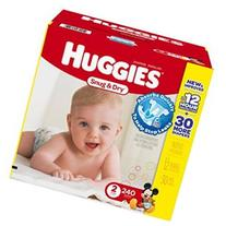 Huggies Snug & Dry Value Box Size 2 - 240 Count