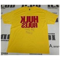 Hulk Hogan Signed Official Rules WWE Shirt COA Hulkamania