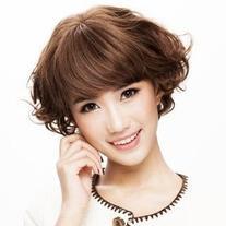 Human Hair Short Full Wig - Wavy