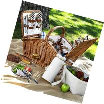 Picnic At Ascot Huntsman Basket for Four with Coffee Service