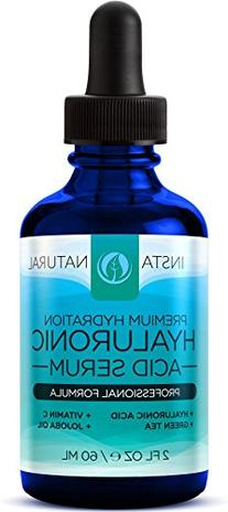 InstaNatural Hyaluronic Acid Serum - Anti Aging Serum for