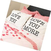 I Love You & Love You More Cotton Polyester Standard Size