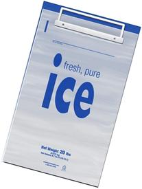 Duro Ice Bag, 20#, Plastic Wicketed, 500/case 20LB PLASTIC