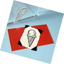 "Ice Cream Cone Stamp, clear polymer cling 1.75""x1"", includes"